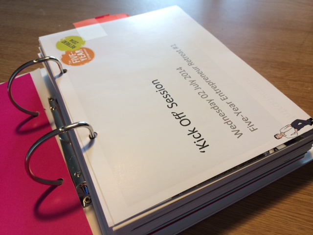 The 500+ page binder given to each attendee at the 5YE Retreat.
