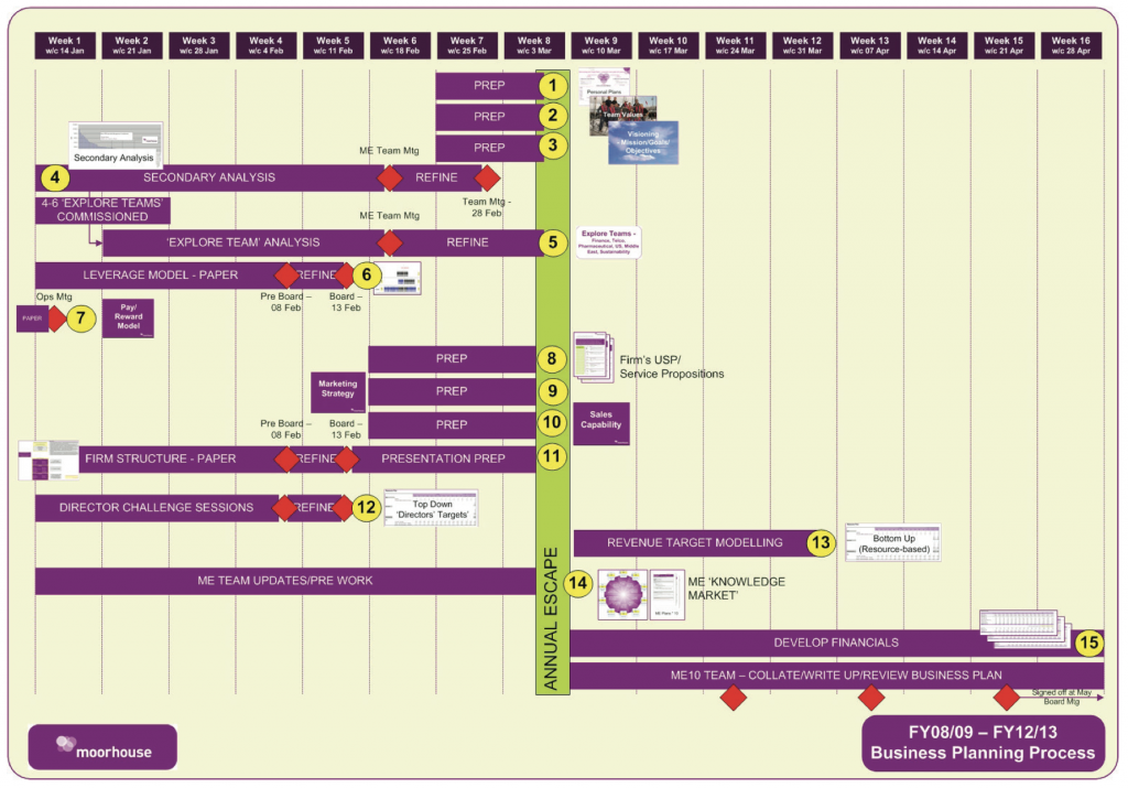 Figure: Illustrative plan-for-the-plan timeline