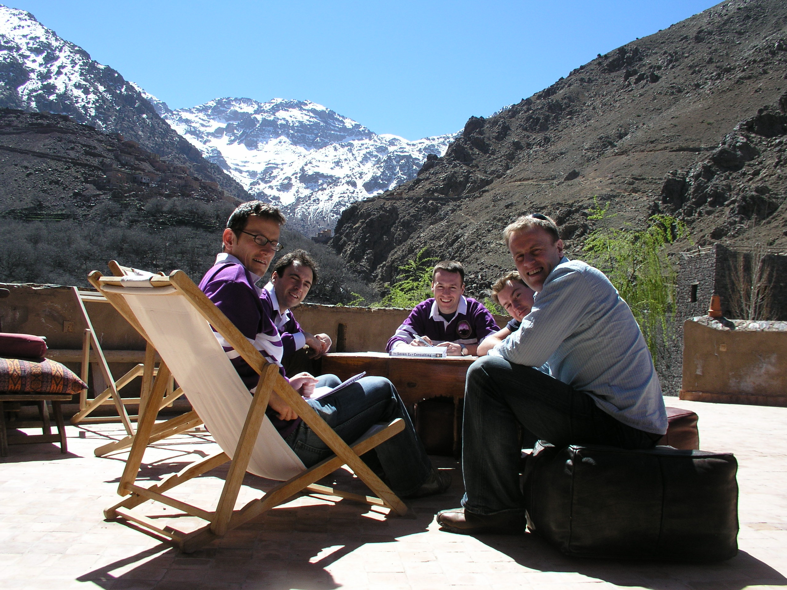As important as why you plan, is how (and where) you plan. A planning sub-team hard at it during one of our company escapes (in the Atlas Mountains).