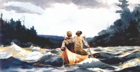 Canoe in the rapids, 1897 - Winslow Homer